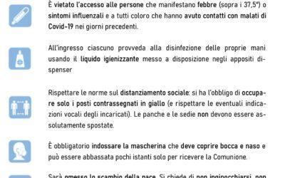 Disposizioni S. Messe da novembre